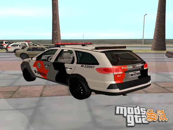 Fiat Palio Weekend Adventure PMESP para GTA San Andreas