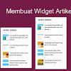 Cara Mudah Memasang Widget Artikel Terbaru Dengan Gambar