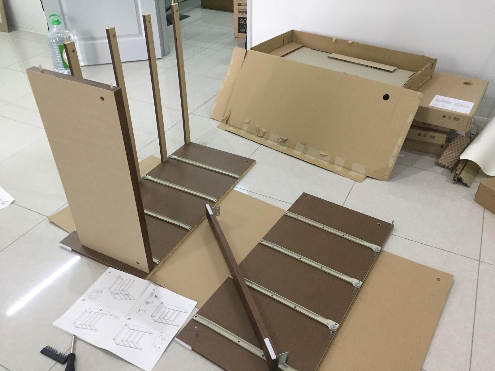 Rumah Pajam : Barang Dari Ikea Dah Sampai
