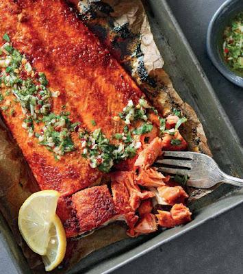 Blackened Salmon With Chimichurri Recipe