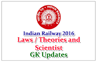 Important Laws / Theories and their Scientist - GK Updates