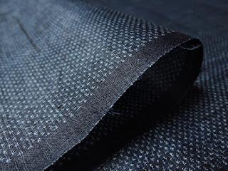 宮古織物工業組合証紙付の麻上布反物の画像です