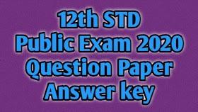 12th Public Exam March 2020