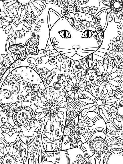 katzen malvorlage mandala/cat mandala coloring page - free
