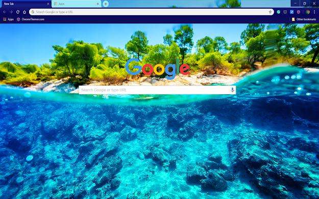 Underwater Island Google Theme