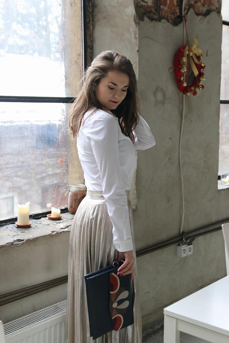 pomysły jak nosić plisowana spódnice