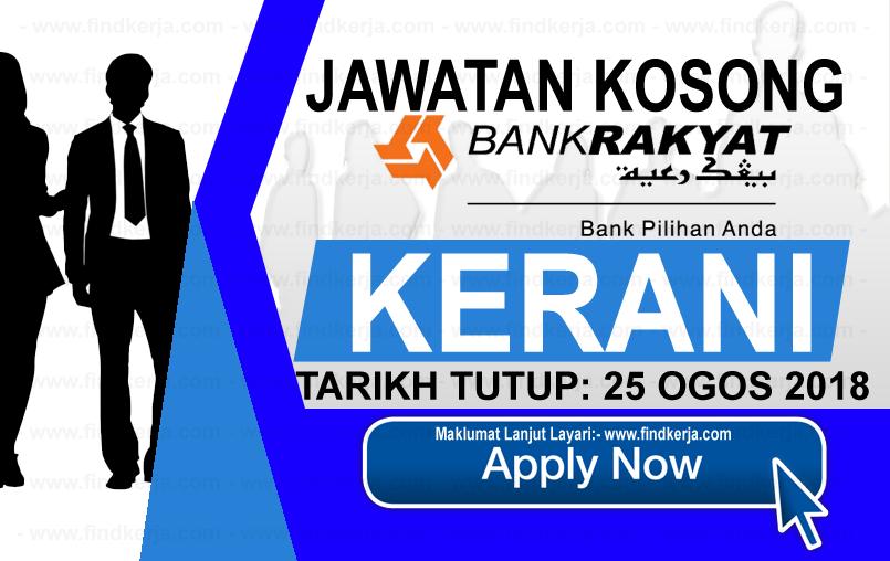 Jawatan Kerja Kosong Bank Rakyat logo www.ohjob.info www.findkerja.com ogos 2018