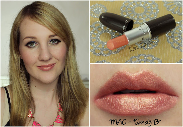 MAC Sandy B lipstick swatch