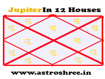 jupiter impacts in 12 houses of kundli