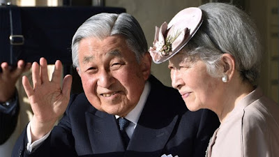 Japan's Emperor Akihito abdicates the Chrysanthemum throne.