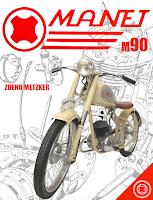 JAWA 90, veteran literatura, knihy o motocykloch, veterany, motocyklova literatura, povazske strojarne, manet m90, manet