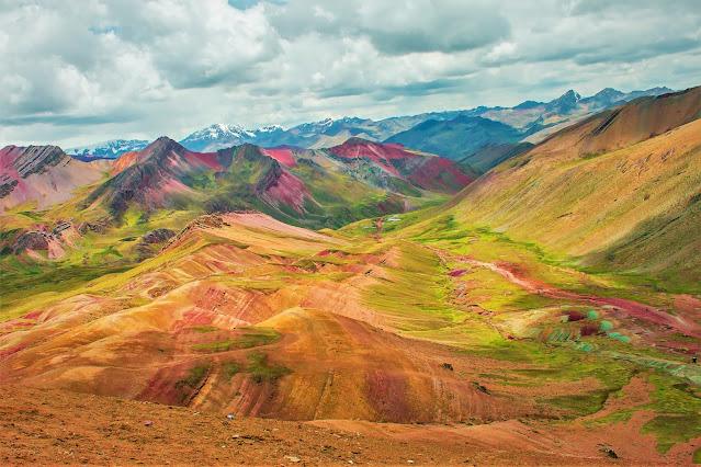 The Rainbow Mountain in Peru