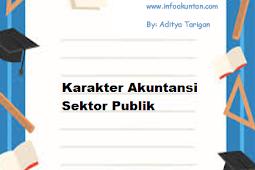 Karakter Akuntansi Sektor Publik