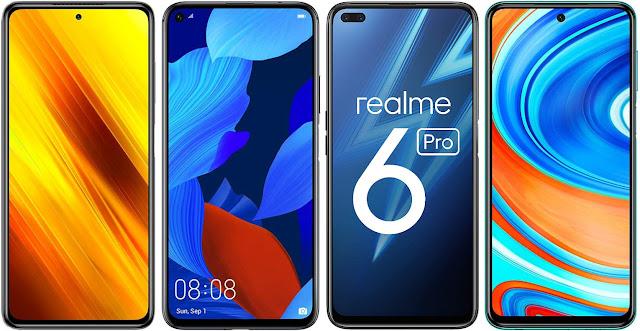 xiaomi-poco-x3-nfc-vs-honor-20-vs-realme-6-pro-vs-xiaomi-redmi-note-9-pro