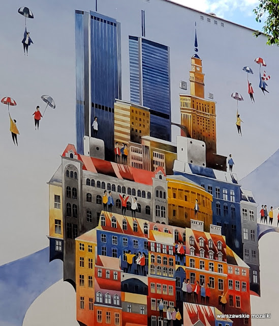 Warszawa Warsaw miasto city streetart street mural murale muralart Wola Chmielna