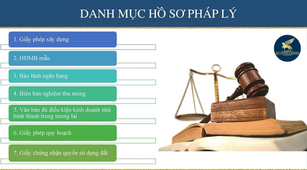 Danh mục hồ sơ pháp lý dự án Sunshine Garden Minh Khai