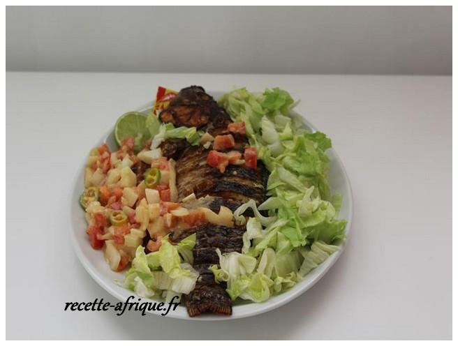 Poisson la braise sauce moyo recettes ivoiriennes - Recette de cuisine ivoirienne gratuite ...
