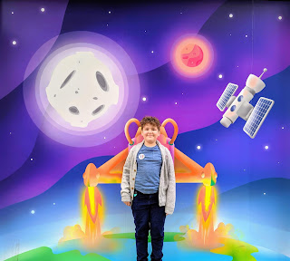 Dan Jon in Space with a jetpack