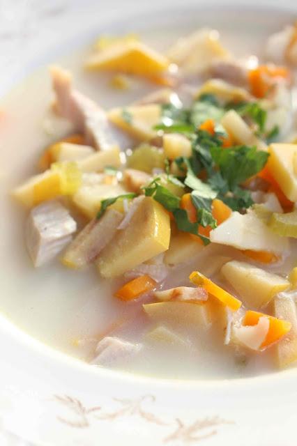 coings et viande soupe