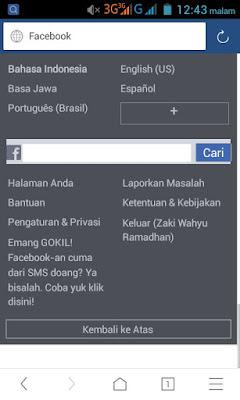 cara ubah kata sandi fb