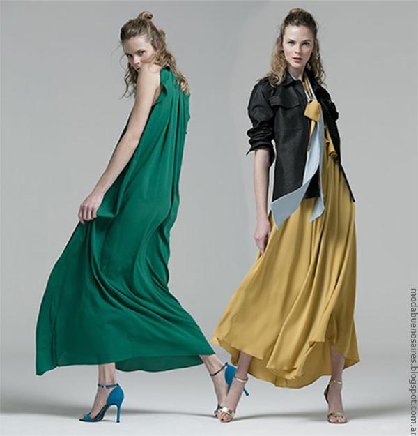 Vestidos primavera verano 2017. Moda 2017 Evangelina Bomparola.
