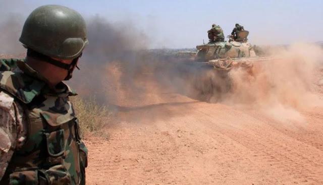 الجيش السوري يعزز جبهتي البادية والجنوب...وغارات على اللجاة (فيديو)