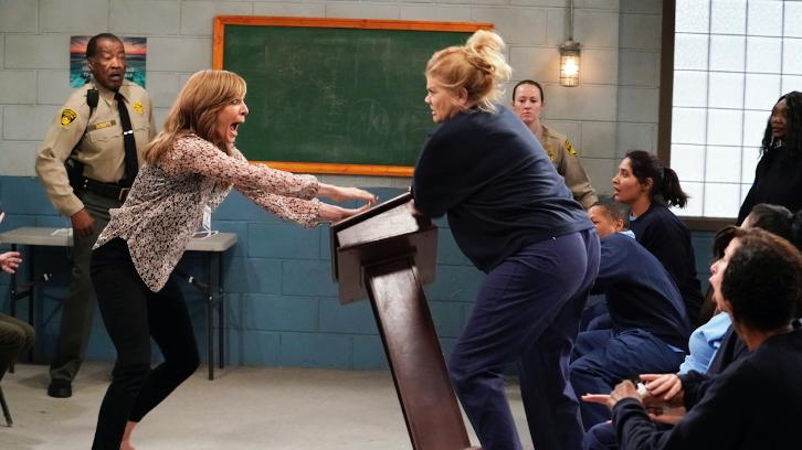 Mom - Episode 5.17 - Crazy Snakes and a Clog to the Head - Promo, Sneak Peeks, Promotional Photos + Press Release