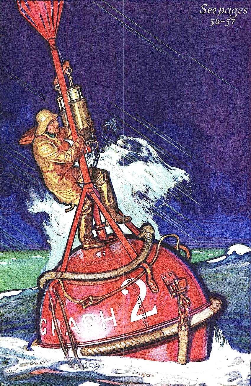 a Herbert Paus illustration of an ocean bouy