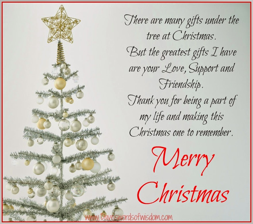 Thank You Quotes For Giving Gifts: Daveswordsofwisdom.com: Giving Thanks At Christmas