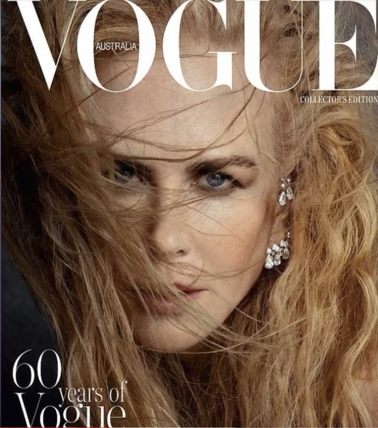 Nicole Kidman reveals abs for Vogue Australia's December issue