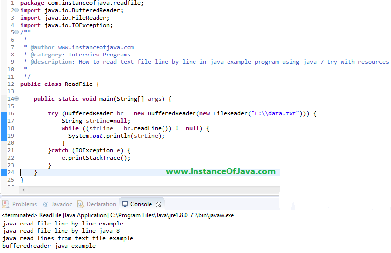 read file line by line java