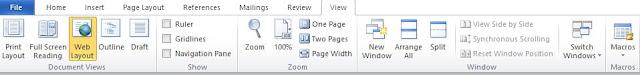 Mengenal Fungsi Menu View Pada Microsoft Word