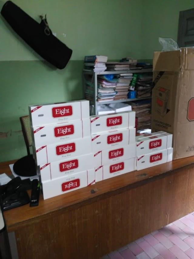 Novo Oriente: dupla é presa com 450 maços de cigarro contrabandeado na PI-120; acusados são conduzidos a PF em Teresina.