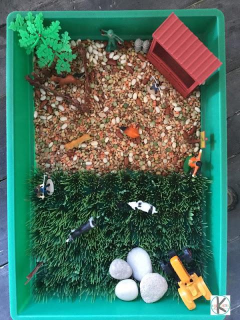 nursery rhyme sensory bin