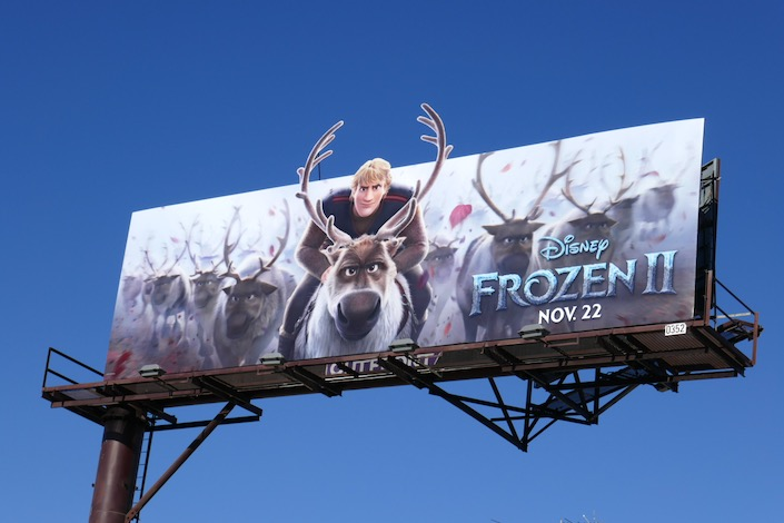 Kristoff Frozen II movie billboard