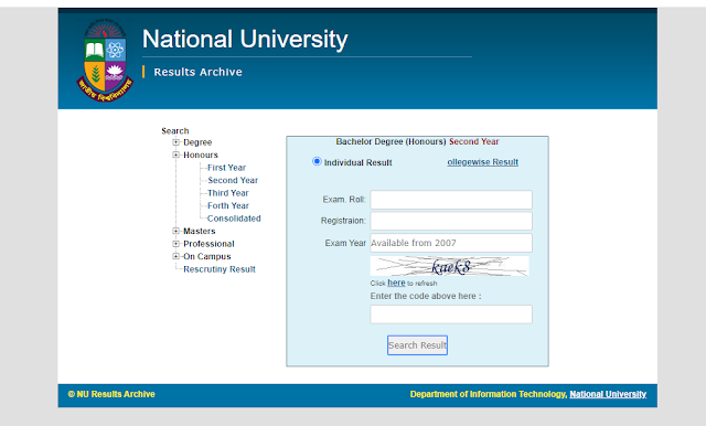 NU Honours 2nd year Result 2020 | nu.ac.bd | BD Result