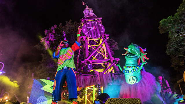 Disney World H20 Glow Nights Partysaurus Rex