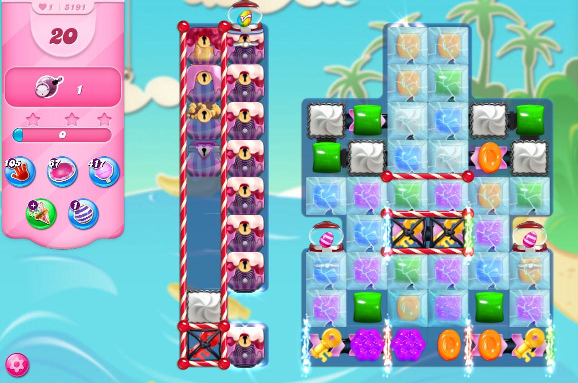 Candy Crush Saga level 5191