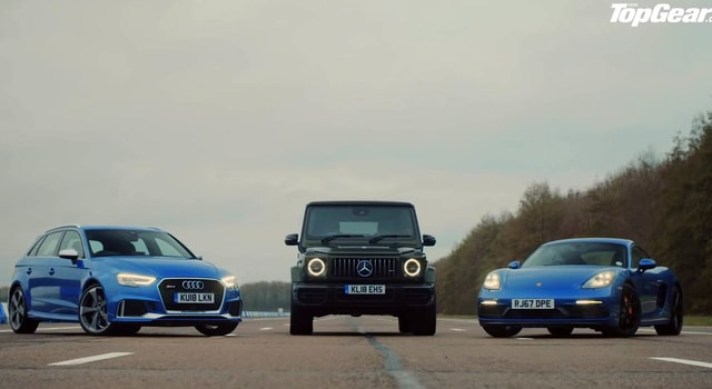 The new Mercedes MGG63 is facing the Audi RS3 and Porsche Cayman GTS