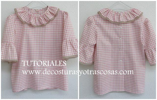 paso a paso para hacer una blusa para niña