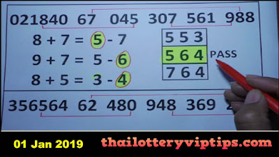 Thai lottery 3up sure number formula papers tips 01 January 2019