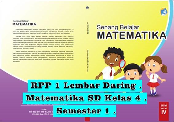 Tempat Unduh RPP Satu Halaman Matematika Kelas 4 Semester 1 K13