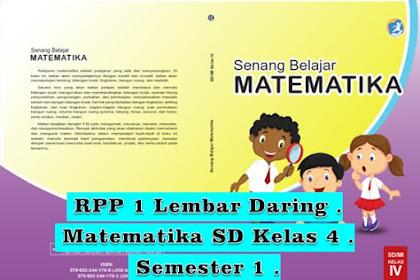 Tempat Unduh RPP 1 Lembar Daring Matematika SD/MI Kelas 4 Semester 1 K13