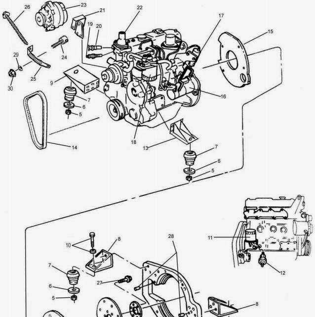 4JB1 Foton: Engine Parts