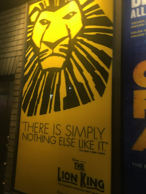 Lion King Shubert Alley Poster Broadway