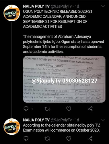 Fake News: AAPOLY will not be resuming on the 14th of September