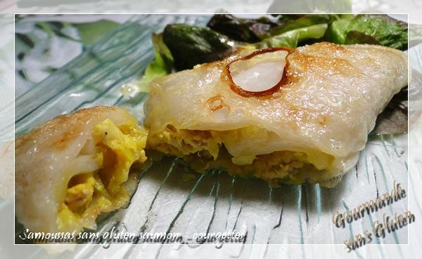 Samoussas sans gluten saumon - courgette