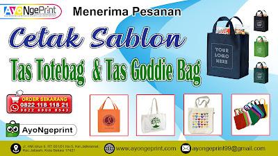 Sablon Tas Totebag & Goodie Bag Custom Murah di Kalideres, Jakarta Barat