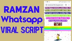 [Happy Ramzan] Blogger Viral Whatsapp Wishing Script 2020 Free Download - Responsive Blogger Template
