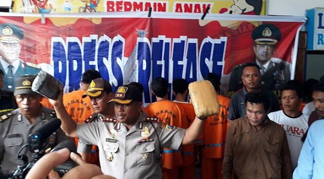 "Ungkap 36 Kg Ganja,Kapolres Simalungun Sebut Kota Pematang Siantar ""Sarang Narkoba"""